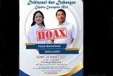 Poster deklarasi Capres-Cawapres 2024 Puan Maharani-Moeldoko hoaks