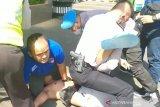 Pria bawa pisau di Polres Jaksel diamankan