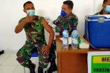 Ratusan prajurit Kodim 1712 Sarmi disuntik vaksin COVID-19