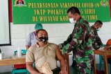 Ratusan personel TNI Kodim 1709/Yawa disuntik vaksin COVID-19 Sinovac