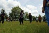 Kelompok masyarakat konservasi berlatih menghalau gajah liar di Lampung Timur