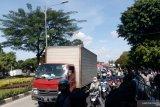 Sidang Rizieq Shihab, arus lalu lintas di depan PN Jaktim macet