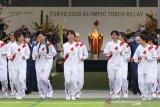 Kirab obor Olimpiade di Osaka berlangsung di taman tanpa penonton