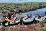 Polairud Polda Jambi ikut revitalisasi sekat kanal hadapi karhutla