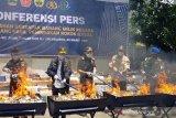25,6 juta rokok ilegal hasil penindakan di Jateng dimusnahkan