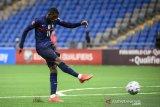 Ousmane Dembele sumbang satu gol saat Prancis atasi Kazakhstan di Stadion Astana Arena