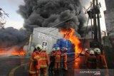 Kebakaran Gudang Palet Plastik