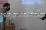 Kunjungan Polda Kepri ke Kantor Biro Antara Kepri