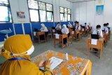 Puluhan SMP di Kapuas melaksanakan ujian secara tatap muka