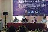 Rektor Unila tegaskan penyusunan draf Monografi Naskah Lampung perlu didukung