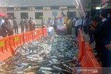 Jelang Ramadhan, ribuan botol miras hasil sitaan di Boyolali dimusnahkan