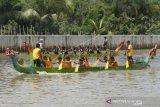 Dayung Kalsel matangkan latihan di Danau Riam Kanan untuk PON XX Papua