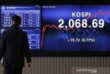 Indeks saham KOSPI Korea selatan jatuh 0,74 persen, akhiri naik empat hari