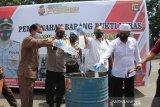 Polres Lombok Barat musnahkan barang bukti minuman keras