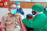 Personel Tagana Kalteng antusias ikuti vaksinasi COVID-19