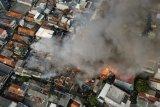 Warga terdampakkebakaran di Taman Sari capai 250 KK, 112 rumah hangus