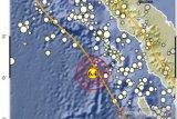 Gempa bumi bermagnitudo 6,4 terjadi di barat daya Nias Barat