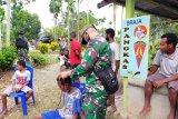 Satgas TNI buka layanan pangkas rambut gratis warga perbatasan RI-PNG