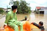Gubernur Riau bantu evakuasi kucing di daerah banjir Pekanbaru
