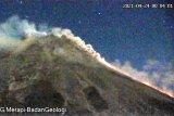 Merapi empat kali luncurkan awan panas ke arah tenggara dan barat daya