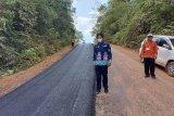 Ruas jalan Tumbang Miri  hingga Tumbang Marikoi mulai diaspal