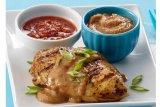 Cara membuat Chicken with Savory Peanut-Sesame BBQ Sauce