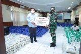Pertamina-Lanal Cilacap bersinergi bagikan paket sembako