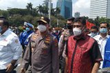 Kapolda Metro Jaya antar perwakilan buruh menuju gedung MK