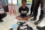 Satlantas Polres Singkawang amankan pria pelanggar lalin membawa narkoba