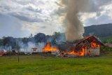 Bupati Murung Raya  respon cepat musibah kebakaran di Tumbang Tabulus