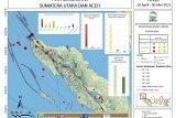BMKG catat sepekan terakhir terjadi 54 gempa bumi di Sumut-Aceh