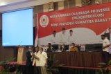 Agus Suardi terpilih aklamasi sebagai Ketua Umum KONI Sumbar
