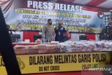 Polisi gagalkan peredaran sabu internasional seberat 310 Kg, dibawa dari Aceh melalui darat