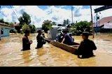 Warga mengungsi, Banjir landa beberapa desa di Kaltara