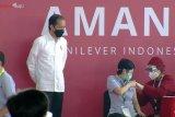 Presiden Jokowi tinjau pelaksanaan vaksinasi COVID-19 pada pekerja di Kabupaten Bekasi