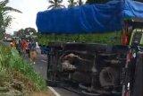 Tabrakan beruntun di Kabupaten Agam Sumbar akibatkan satu orang luka