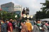 Aksi bela Palestina, belasan aktivis HMI diamankan polisi ke Polda Metro