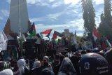 Aksi Bela Palestina di Kota Makassar berlangsung aman dan damai