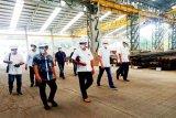 Bangun jembatan, Bupati Barut  tinjau pabrik baja di Jawa Barat