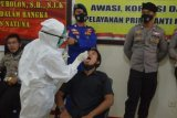 Personel kepolisian di pulau terluar Natuna dites PCR