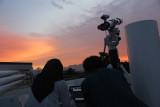 Penampakan benda bercahaya di langit Kota Bandung