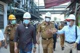 Bupati Lamandau tinjau pabrik tapioka di Lampung Tengah