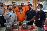 Polisi sita enam kilogram ganja dari kurir jaringan lintas  provinsi