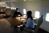 Atlet catur Lampung dan Papua uji tanding di atas pesawat udara