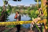 Helikopter jatuh masih dalam Situ Rawa Jemblung Buperta Cibubur