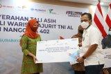 Keluarga KRI Nanggala-402 dapat tali asih Rp1,63 milliar dari Pelindo Grup