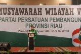 Buka Muswil PPP Riau, Suharso Monoarfa sebut akan aktifkan sekolah politik