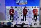 Dua atlet panjat tebing Indonesia pecah rekor dunia
