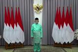 Penampakan Wapres Ma'ruf Amin pakai baju adat Melayu saat Hari Kesaktian Pancasila