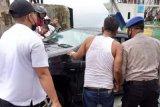 Polisi selidiki jatuhnya satu unit mobil Avanza dari kapal di Danau Toba